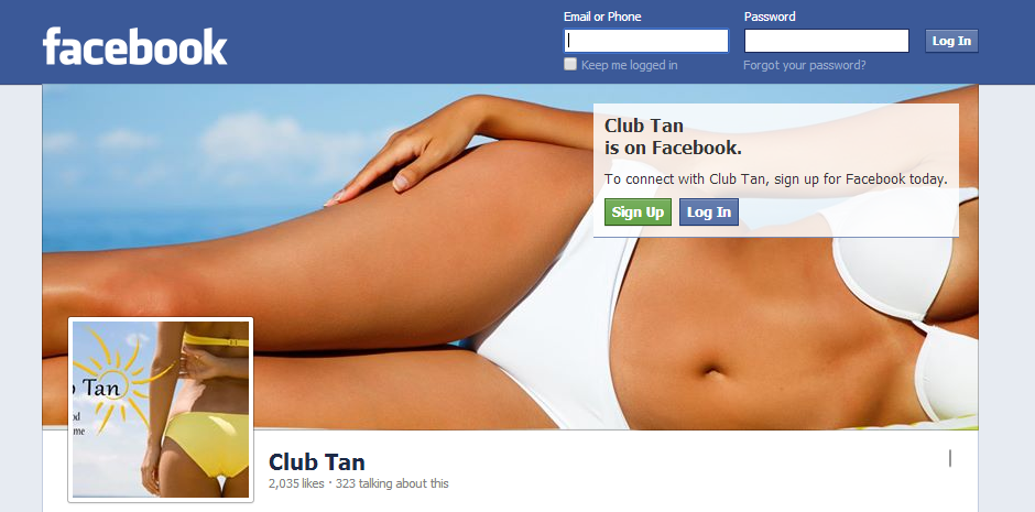 Club Tan Facebook